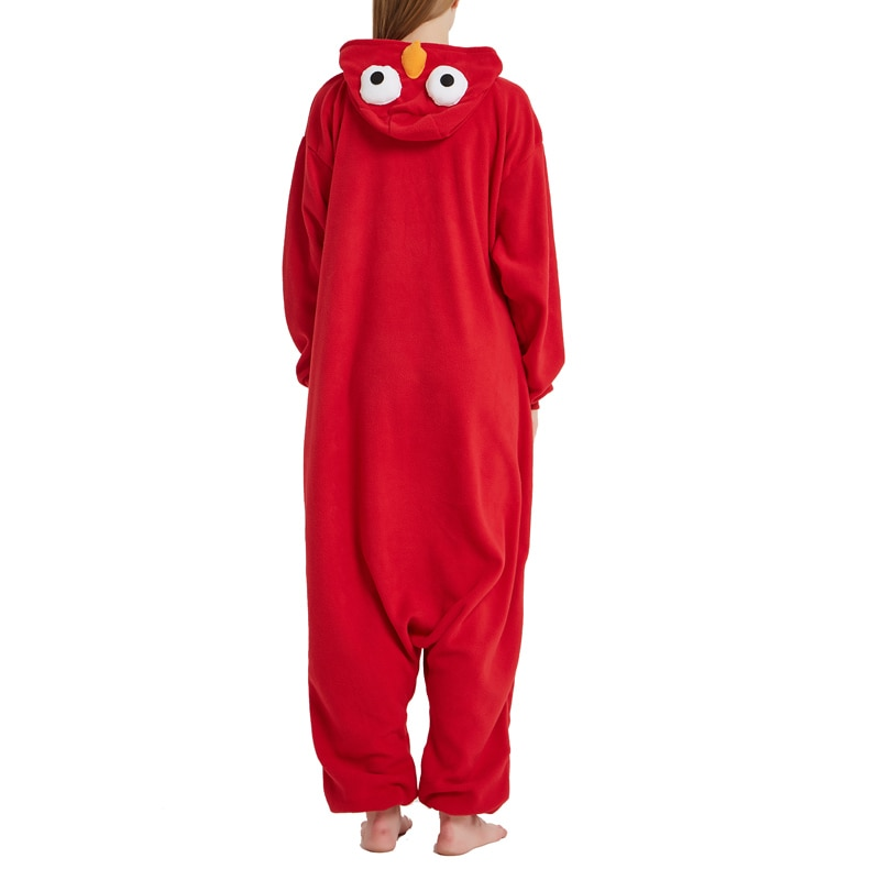 Adult cookie monster strampler fleece cartoon foto 2