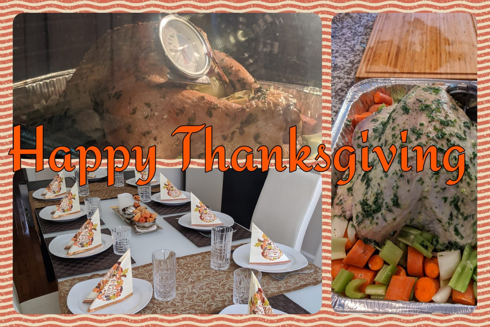 Happy thanksgiving vom neuen halben blog